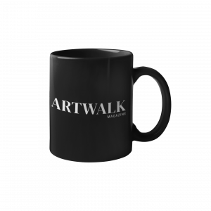 ArtWalk Magazine Black Ceramic Mug